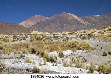Stock Images of colourful landscape at the paso de bayo; san.
