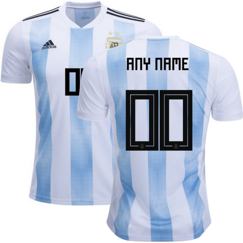 Argentina 2018 Home Jersey Personalized.
