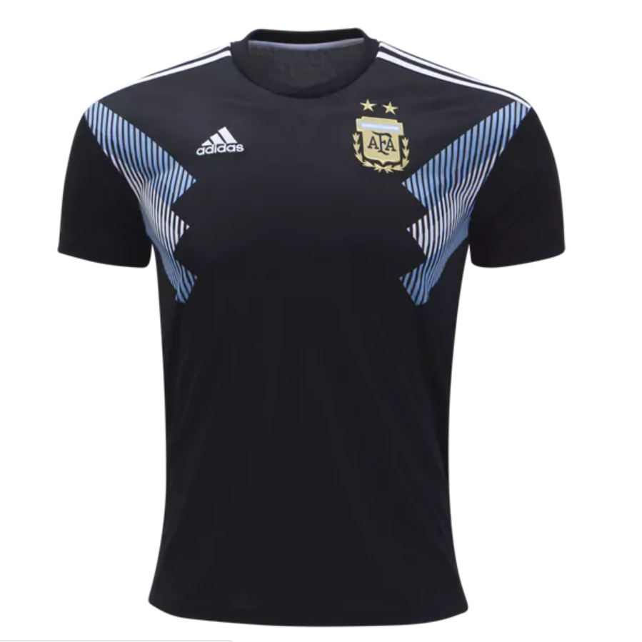 Argentina 2018 World Cup Away Men Soccer Jersey Personalized Name and Number.
