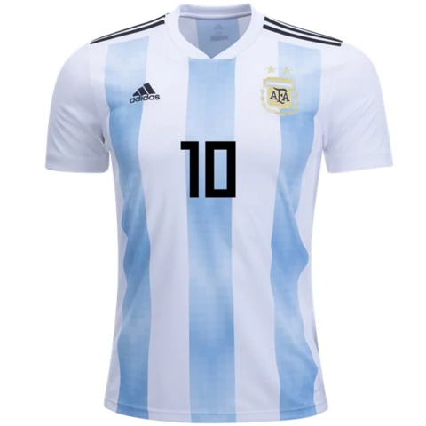 Argentina 2018 Home Jersey Messi #10.