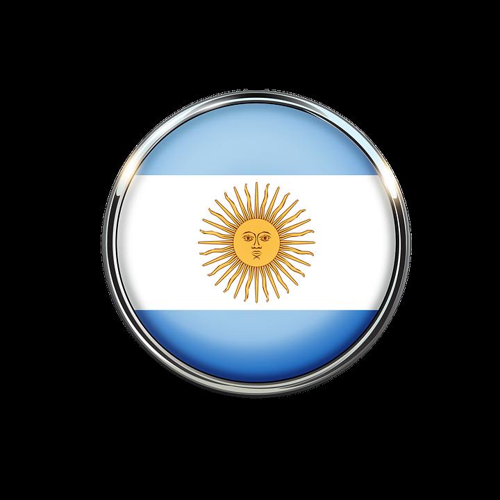 Argentina Flag Circle.