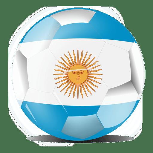 Argentina football flag.