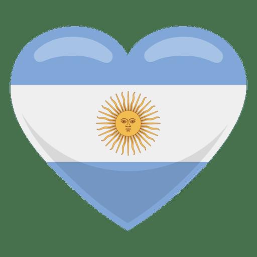 Argentina heart flag.