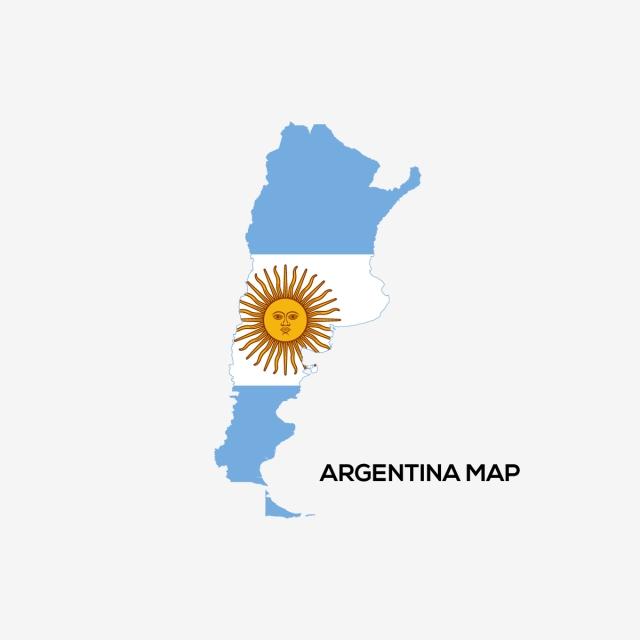 Flag Map Of Argentina Logo Vector, Argentina Flag, Argentina Map PNG.