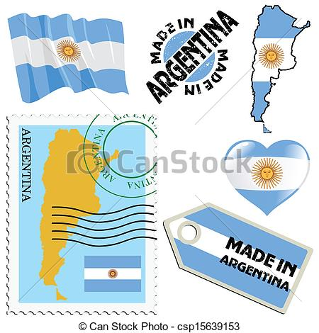 Clipart Vector of national colours of Argentina.