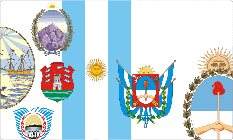 Heraldry of Argentina / Argentinian Flags & Coats of Arms.
