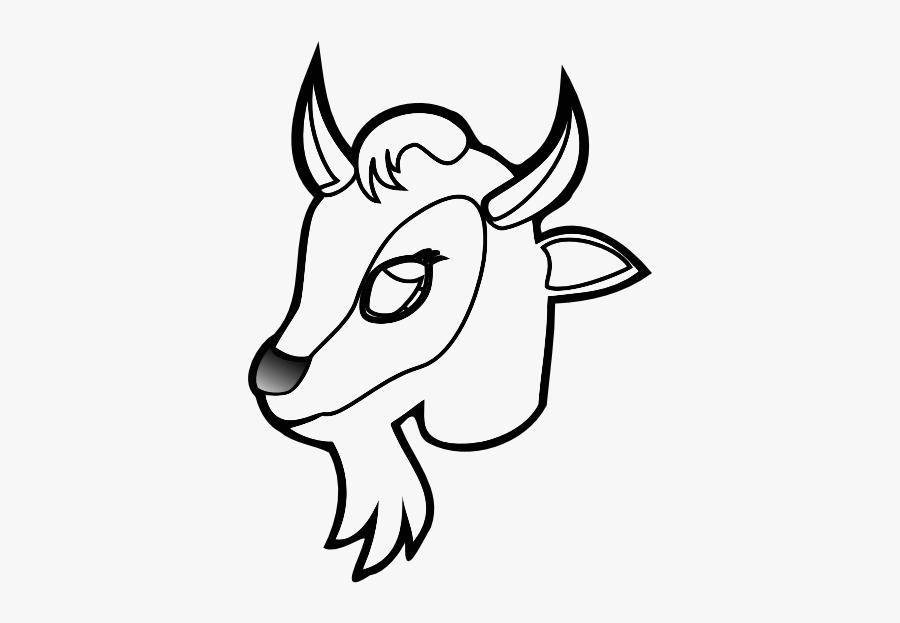Goat Face Clipart Color 2.