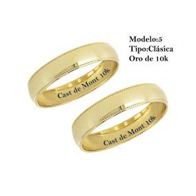 Argollas Matrimonio Golcash Oro.