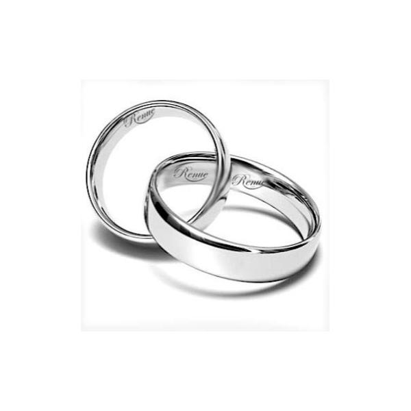 2 Argollas Para Matrimonio Bañadas En Oro Blanco.