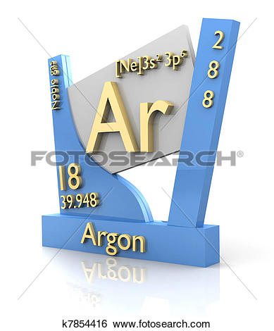 Stock Illustration of Argon form Periodic Table of Elements.