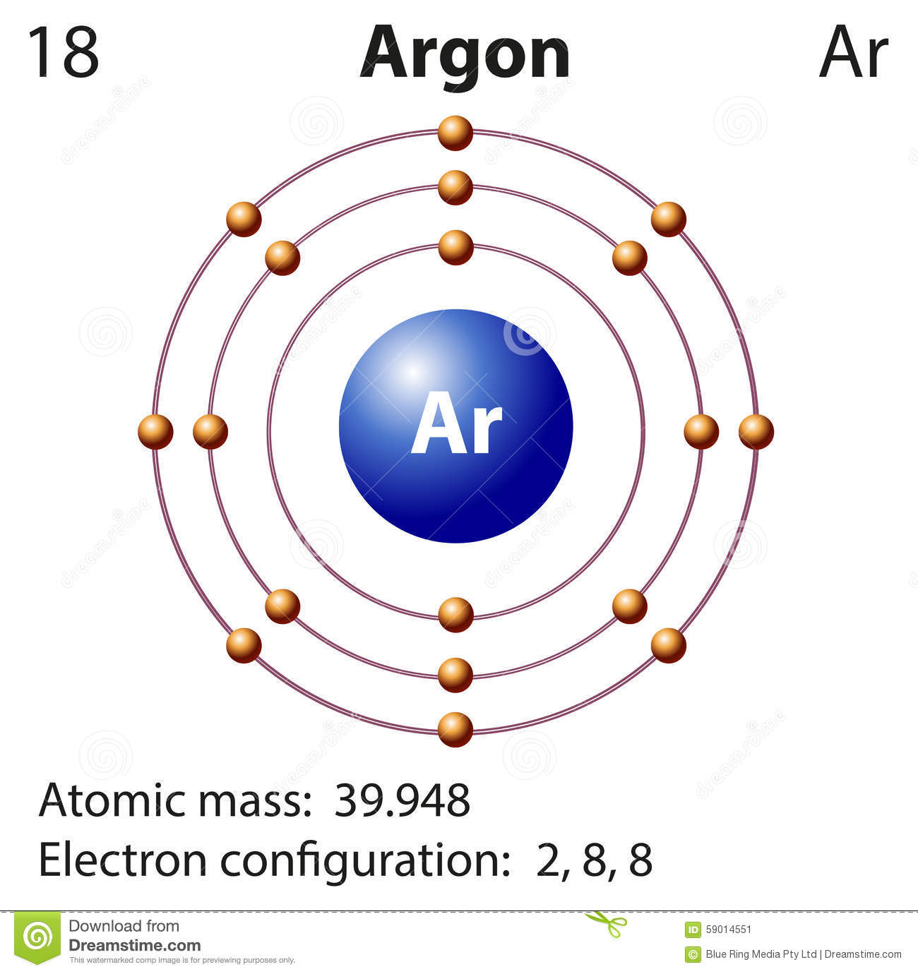 Argon Stock Illustrations.