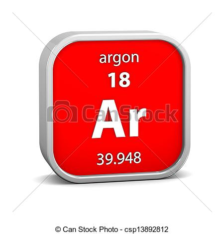 Clipart of Argon material sign.