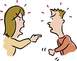 Couple Argument Clipart.