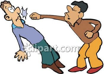 Clipart People Fighting.