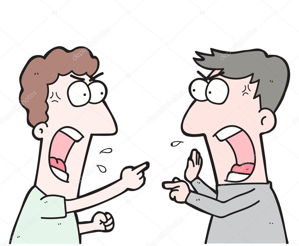 Clipart: people arguing.