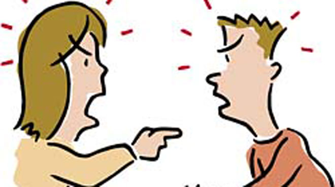 Couple Arguing Clipart.