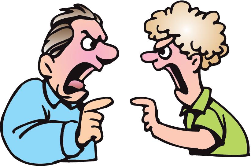 Family Argument Clipart.