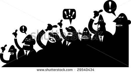 Arguing Silhouette Crowd Stock Vector 29540434.