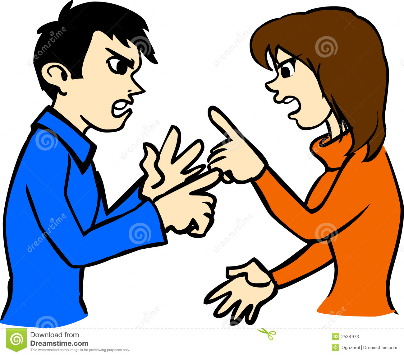 Arguing Couple Clipart.