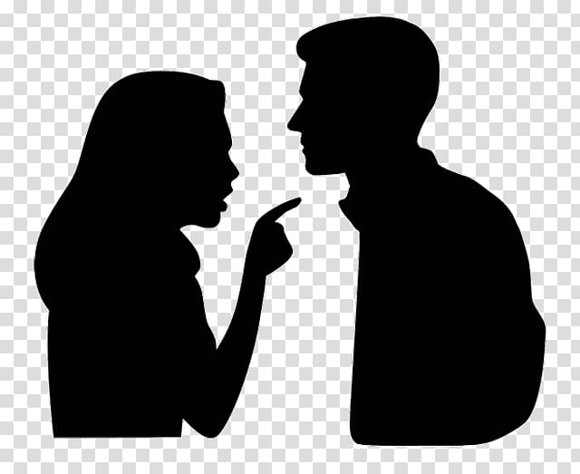 Graphics Silhouette Argument Marriage, Silhouette.