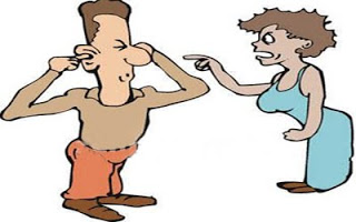 Husband Wife Fight Clipart.