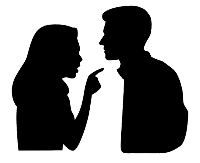 Vector graphics Silhouette Image Argument Marriage.