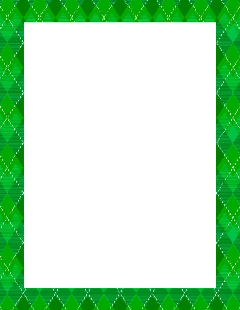 Argyle Green Frame Border.