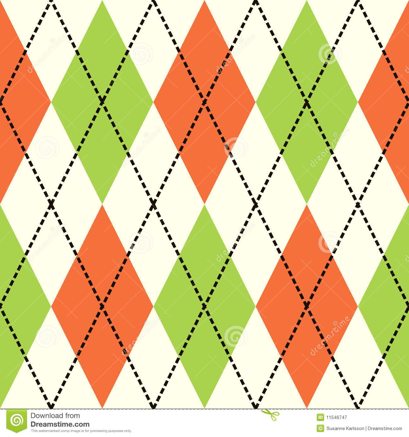 Orange Argyle Background Clip Art.