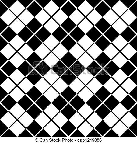 Argyle Pattern in Black and.