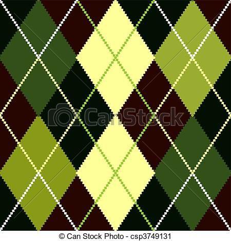 Argyle Pattern Clip Art.