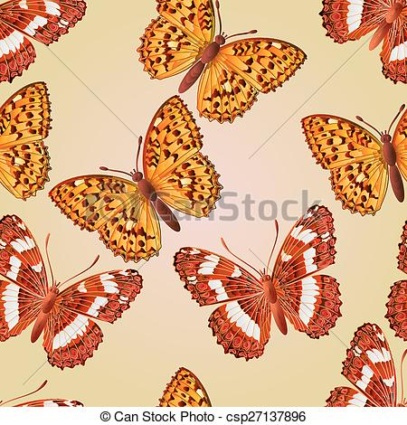 EPS Vectors of Seamless texture butterfly Limenitis camilla and.
