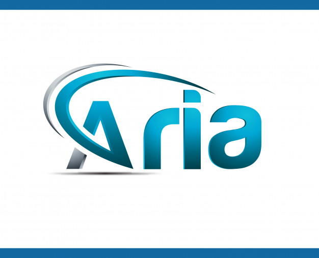 Logo template for aria digital web Vector.
