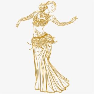 Belly Dancer Clip Arts.