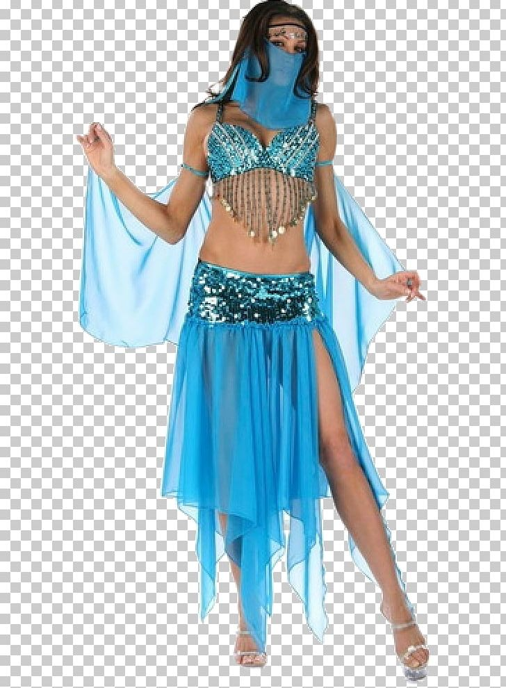 Costume Party Belly Dance Halloween Costume Dress PNG.