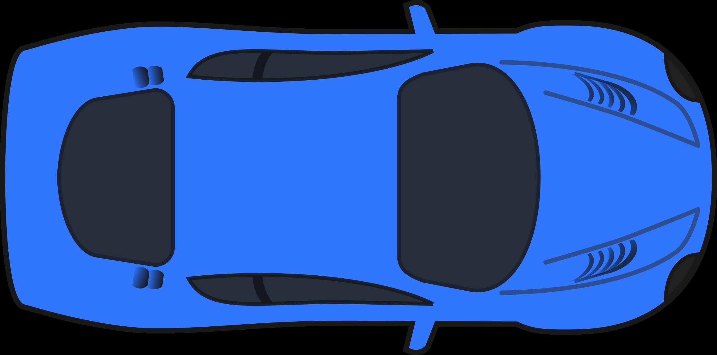 Aerial view car clipart.