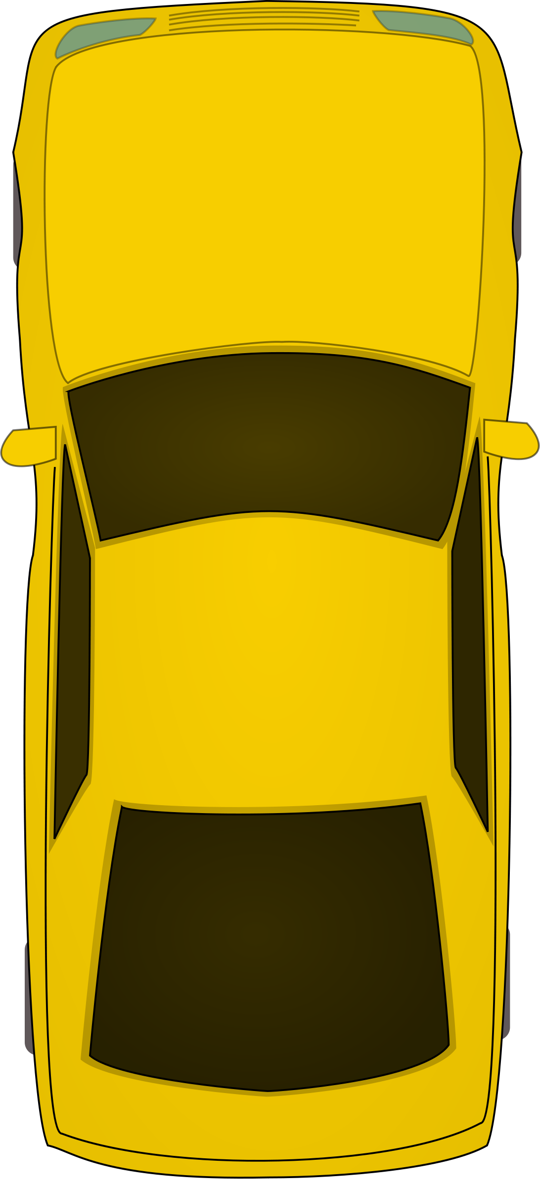 Aerial view car clipart.