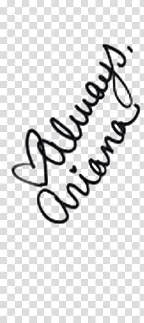Ariana Grande Autograph transparent background PNG clipart.