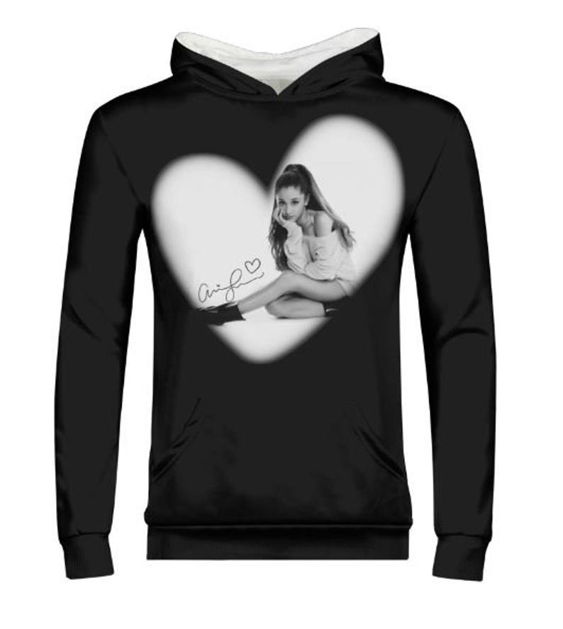 Ariana Grande autograph hoodie choose background color.