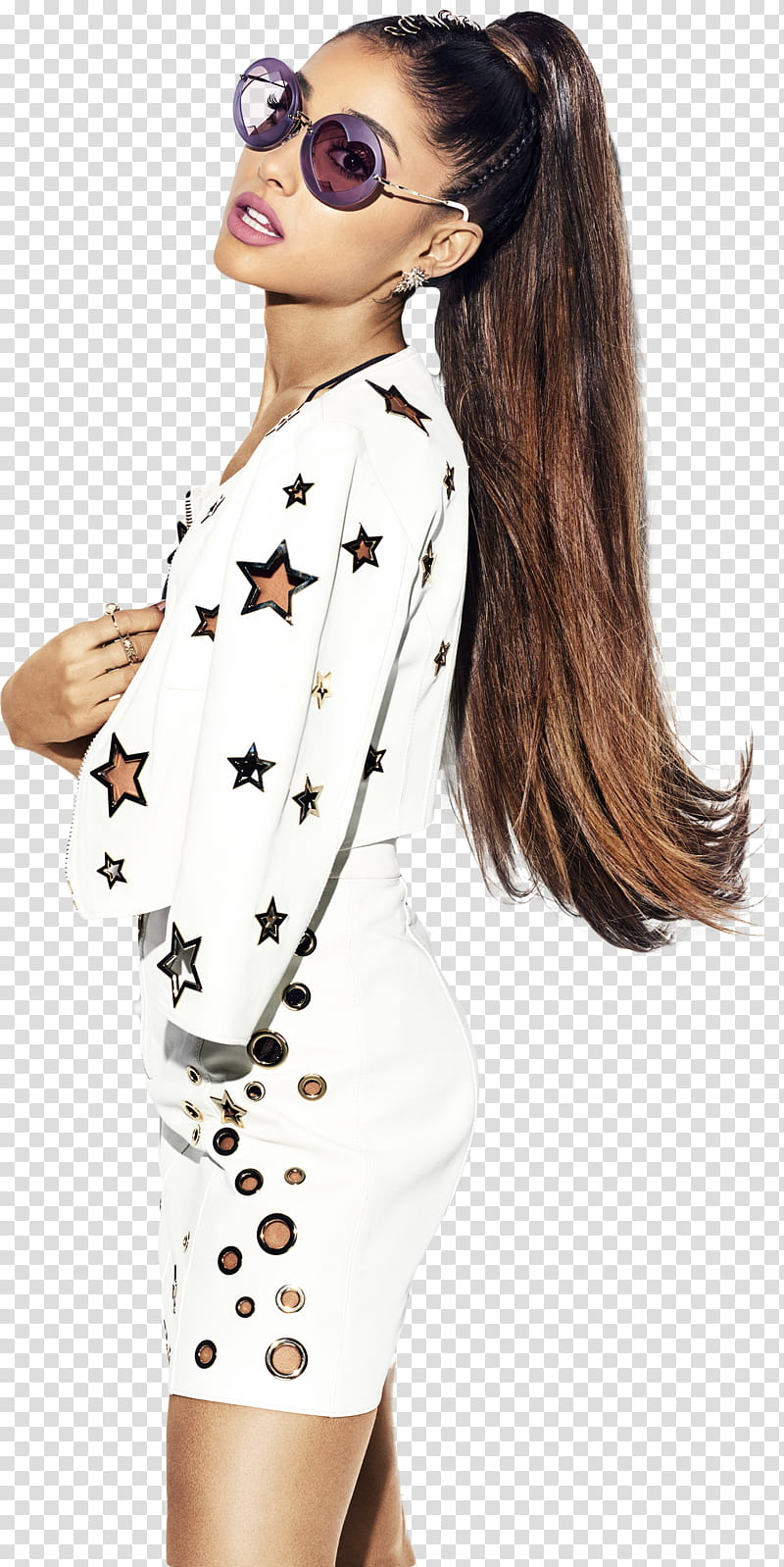 Ft Ariana Grande transparent background PNG clipart.