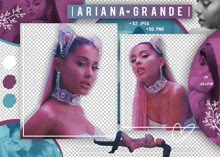 PNG and PHOTO PACK (CELEBRITY) #31 : Ariana Grande by lollipop3103.