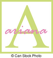 Ariana name monogram Illustrations and Clipart. 1 Ariana.