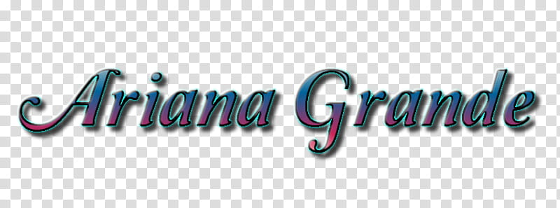 Ariana Grande Text transparent background PNG clipart.
