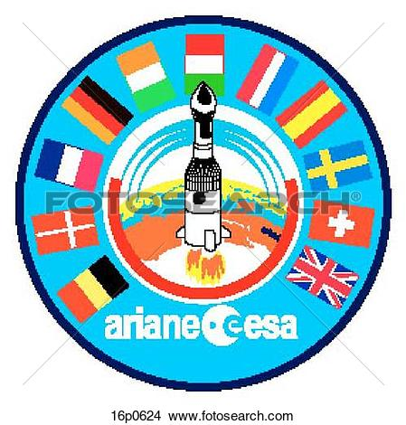 Clipart of Ariane Program 16p0624.