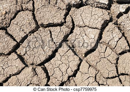 Stock Images of cracked arid soil csp7759975.