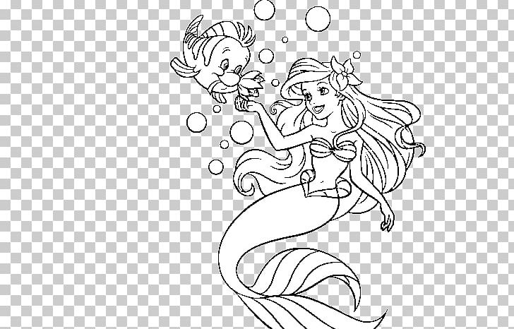 Ariel Sebastian Coloring Book The Little Mermaid King Triton.