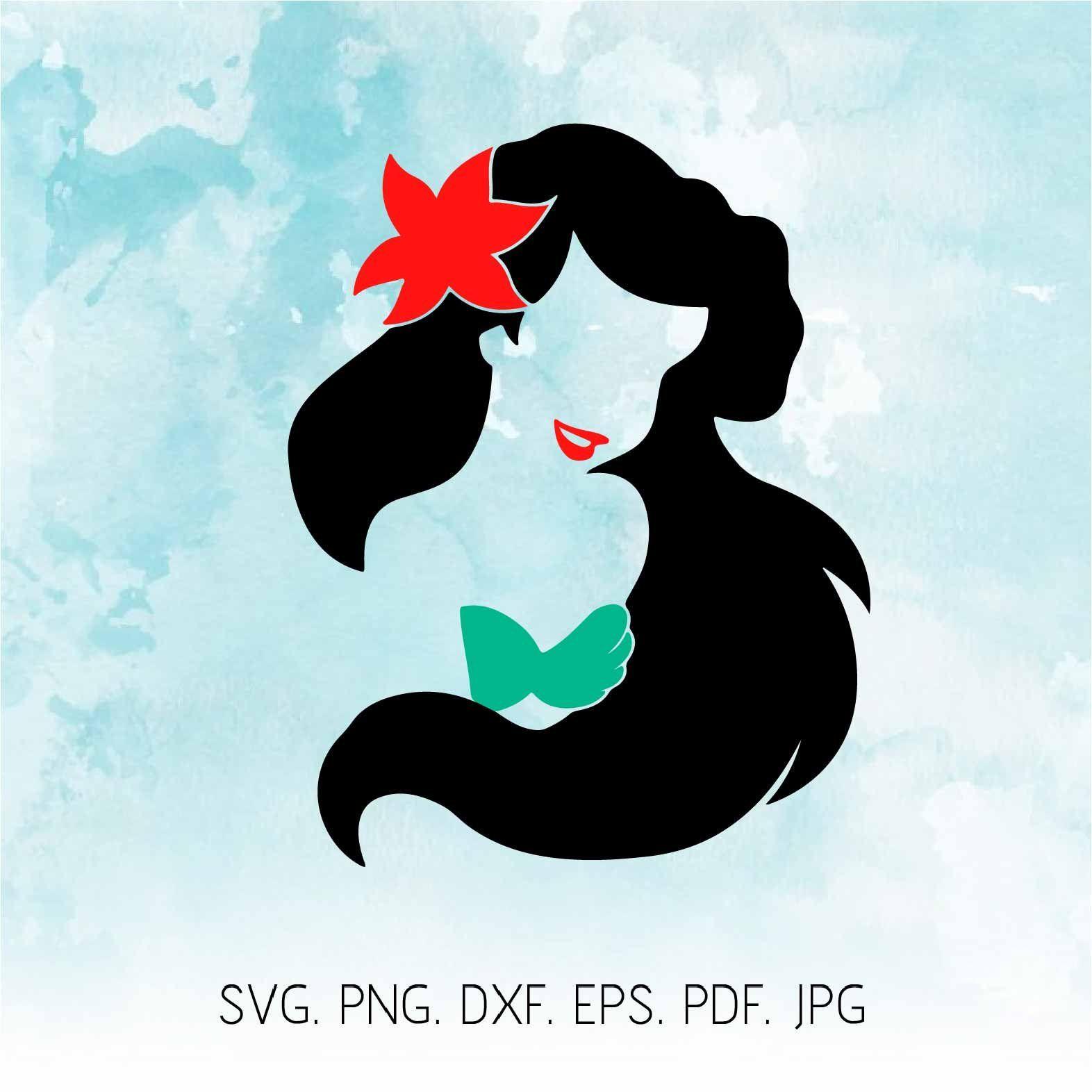Little Mermaid Svg, Ariel Svg, Disney Svg, Ariel Clipart, Mermaid.