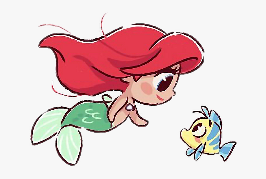 ariel #cute #flounder #thelittlemermaid #adorable.