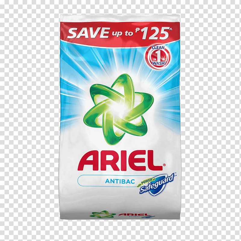 Ariel Color Laundry detergent Washing, Washing powder transparent.