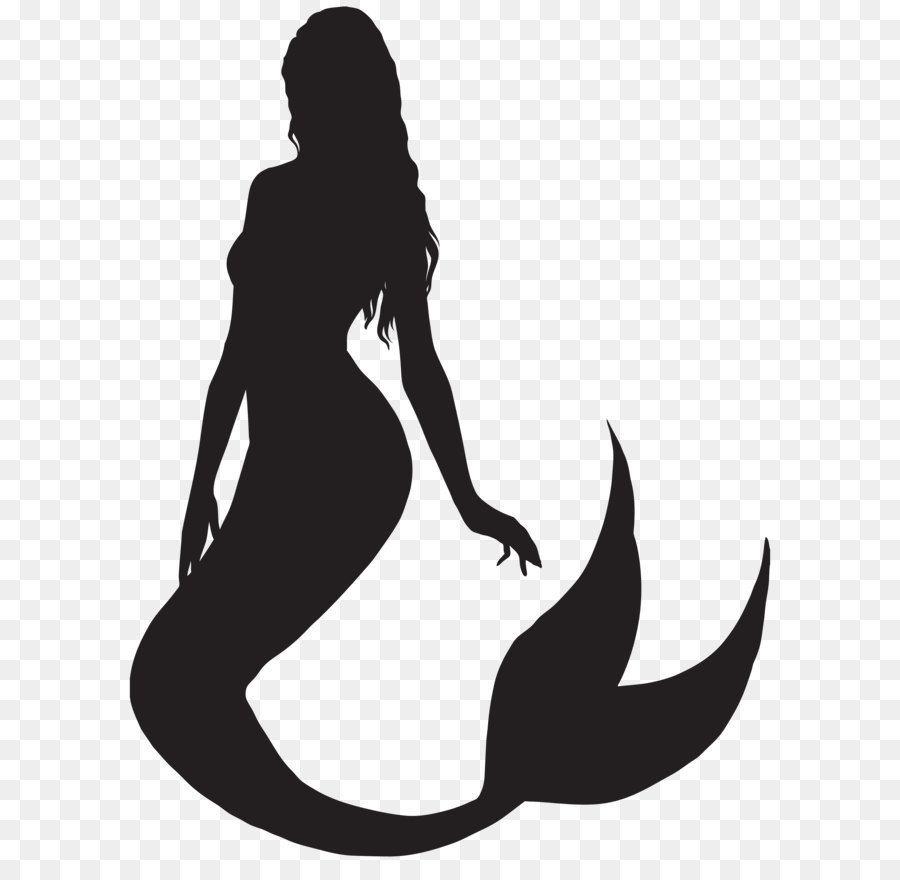Ariel Mermaid Silhouette Clip art.
