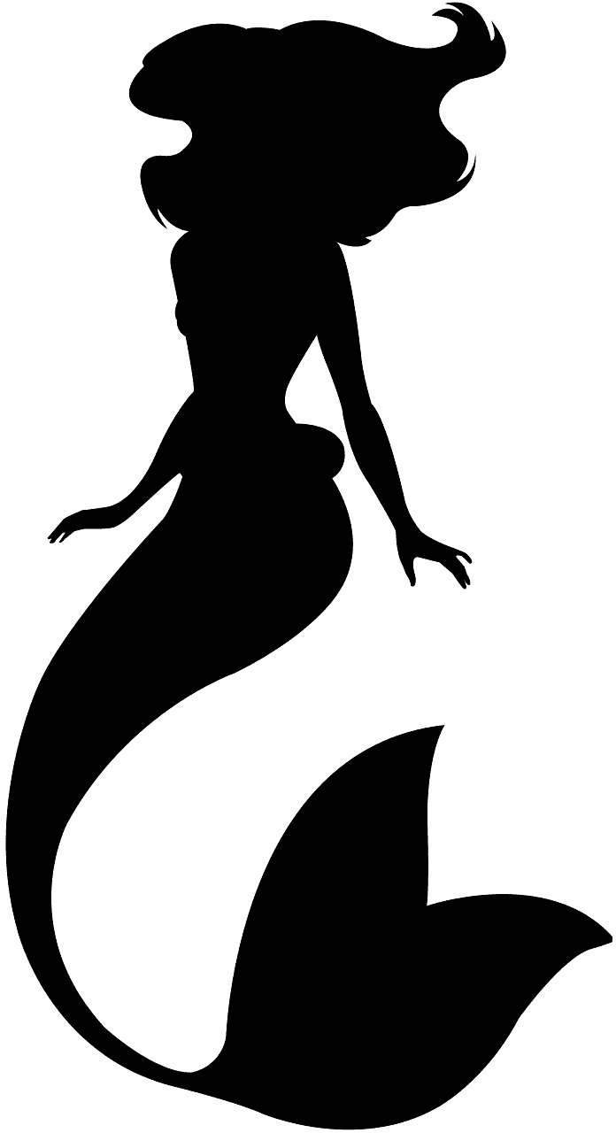 Ariel silhouette.